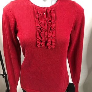 💥💥SALE! 3/$20!!! D and Co red frilly sweater